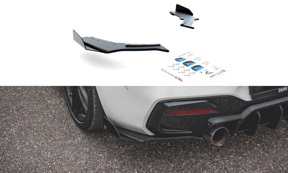 SPLITTERY TYLNE BOCZNE RACING DURABILITY V.3 + FLAPS BMW 1 F20 M-PACK FACELIFT / M140I - GRUBYGARAGE - Sklep Tuningowy